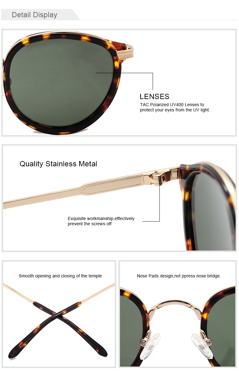 LS7043  fashion hand polished custom engraved acetate  polarized sun glasses for men