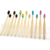 Biodegradable bamboo toothbrush with package paper box bamboo case