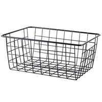 RTS 550-13C home organizer desktop iron wire mesh storage basket with powder coated