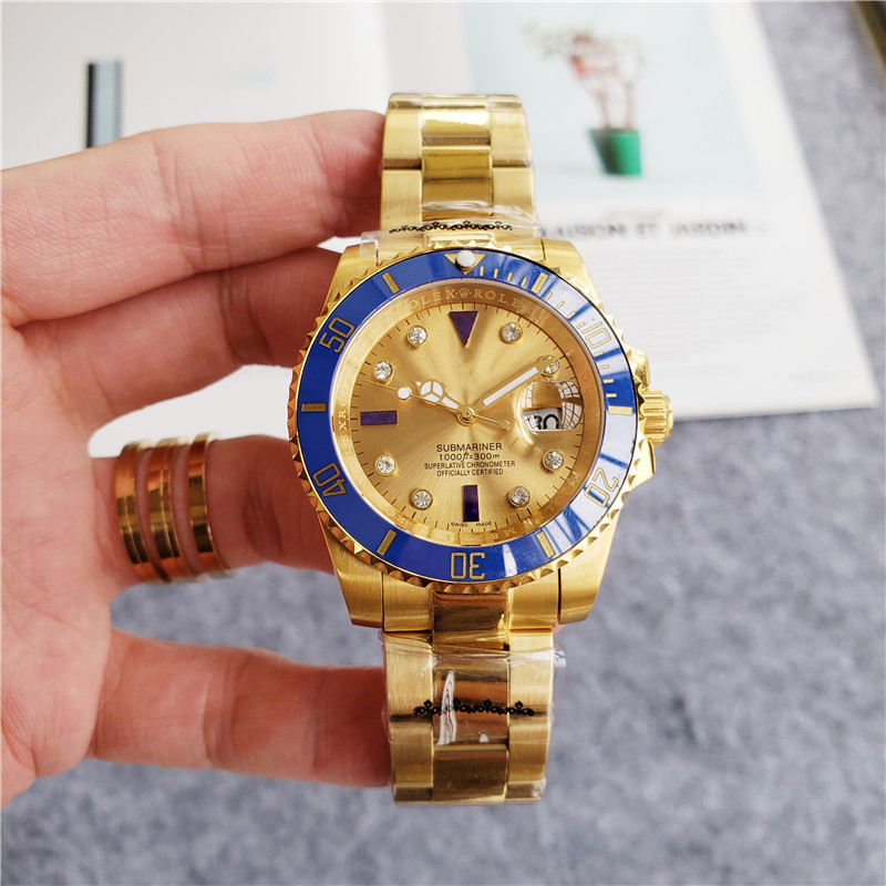 ROLEEXY blue <strong>ceramics</strong> infinity loop gold <strong>case</strong> 40MM automatic mechanical luxury watch