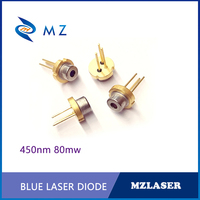 Hot Selling TO-18 Packaging Industrial 450nm 80mw Blue Laser Diode