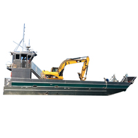 15m landing craft barge for 20 tons excavator machines open sea transfer