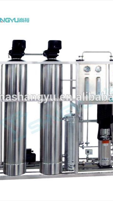 कॉस्मेटिक के लिए 500L आरओ जल उपचार संयंत्र के साथ फिल्टर