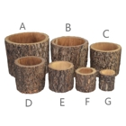 Pots Wooden Decoration Wood Planter Flowerpots Wooden Craft Flower Pots