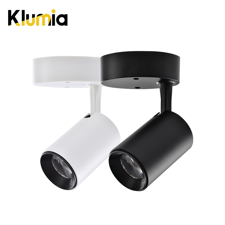 KLUMIA High quality cheap price aluminum 7w surfaced mounting indoor market bedroom led spot light
