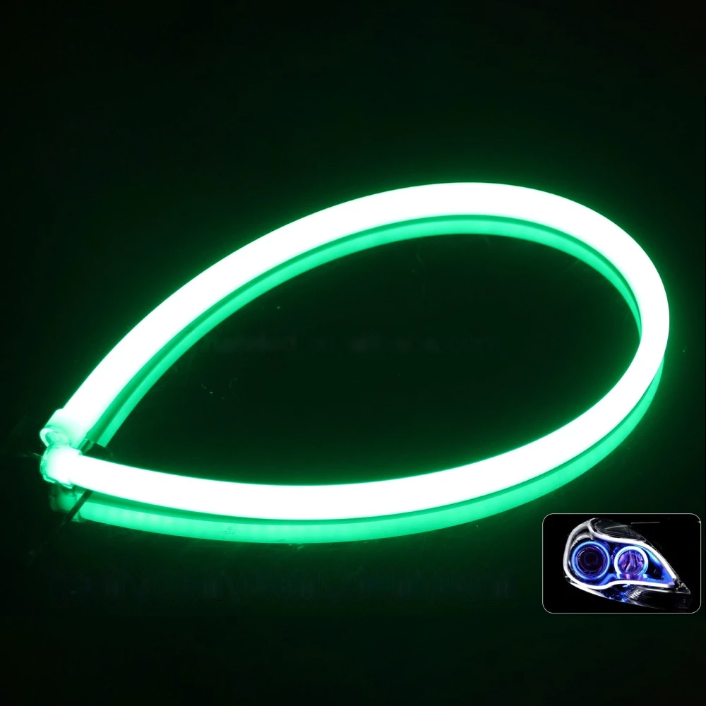 soft article lamp light for car led flexible soft tube wire neon glow car rope strip light soft lamp for cars