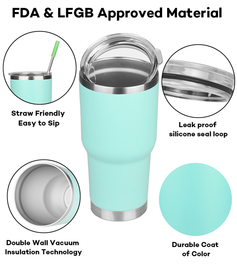 Wholesale 30oz & 20oz Stainless Steel Double Wall Vacuum Insulated Blank Tumbler Cups in Bulk