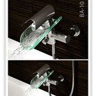 Wenzhou Faucet Manufacturer art style glass led Shower Tap Hot and Cold Water Mixer Shower Mixer Faucet