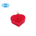 Heart keychain Reflector Glow in the Dark Safety Road for Christmas in Shanghai of KW127