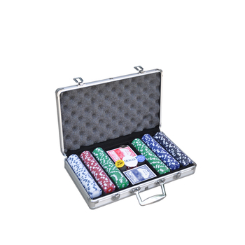300pcs customized texasholdem poker set and poker chips set