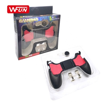 Hot Popular 5 In 1 Mobile Game Controller For PUBG Gaming Trigger Fire Button L1R1 Shooter Mobile Joystick For iPhone Xiaomi