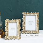 Photo Frames Handicraft Decoration Square Family Baby Gold Gift Resin Plastic Set Design Photo Picture Frames For Home Decor