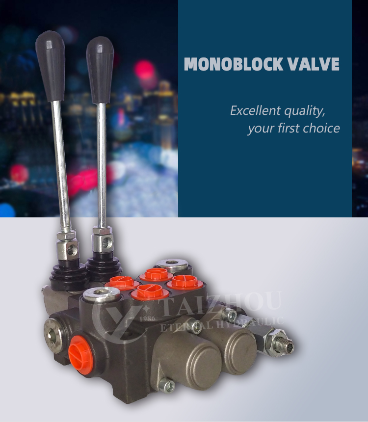 Free Shipping 4P40 Hydraulic 4 spools ways valve, hydraulic joystick directional manual control monoblock valves