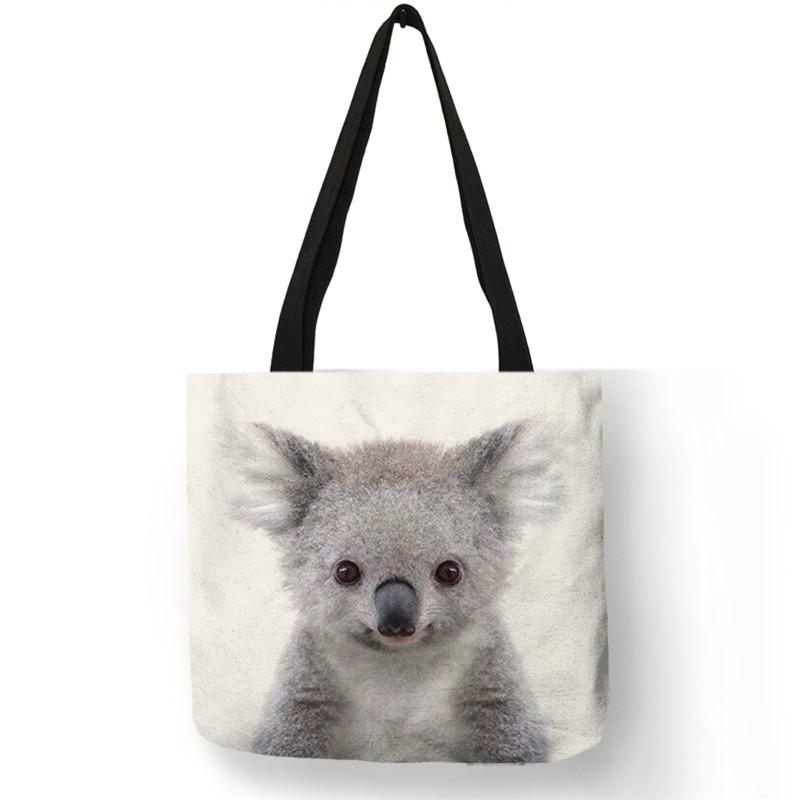 B13016 милые животные серия панда, коала Слон Печать Женская сумка повседневная сумка для покупок(Китай)