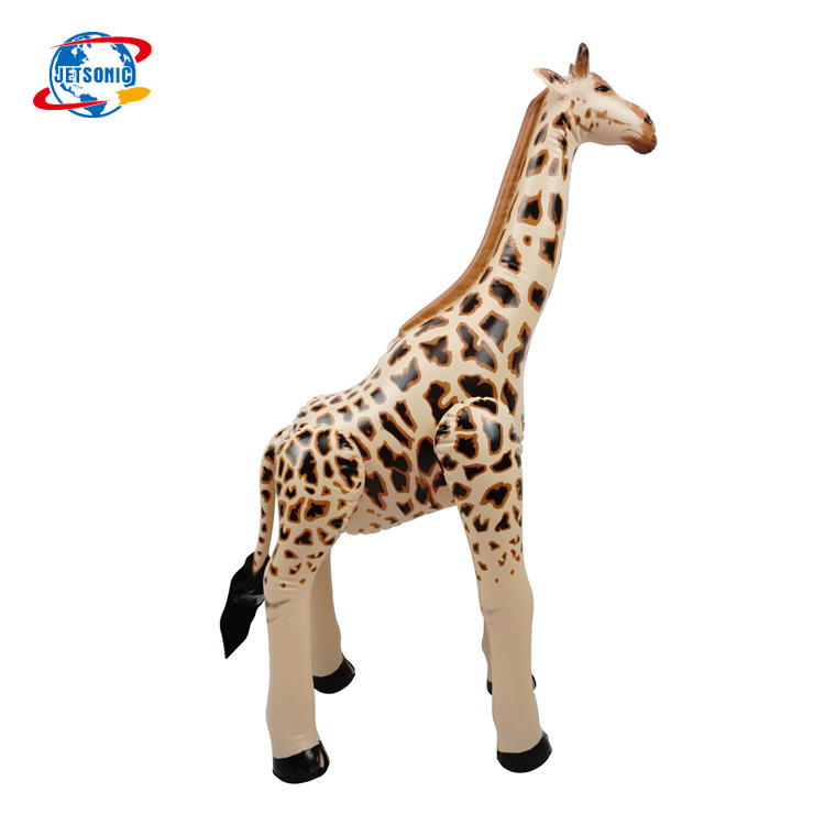 32inH Hot Sale PVC Inflatable Wild Animal Zebra Model Toy