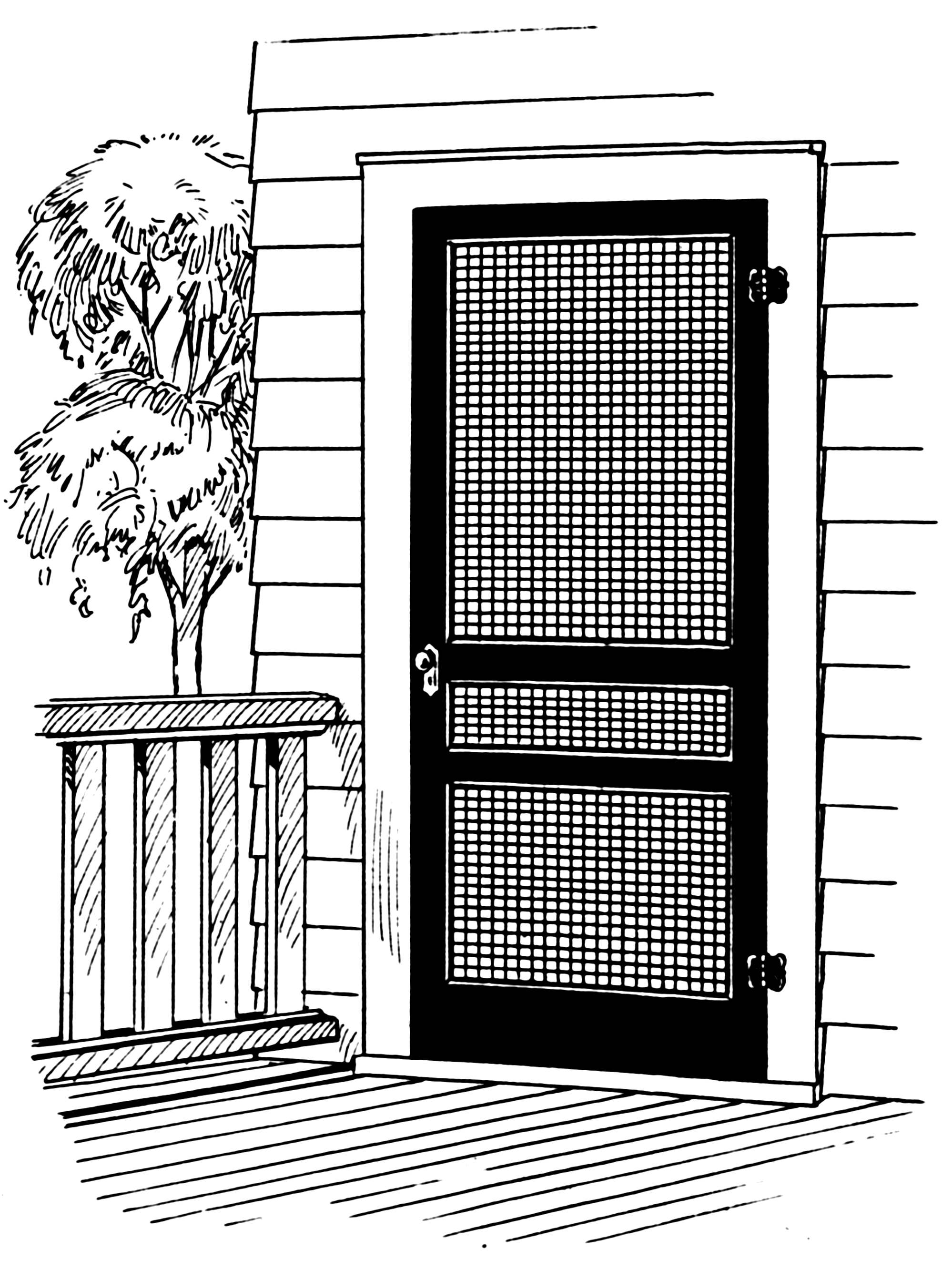 custom single aluminum screen doors for homes