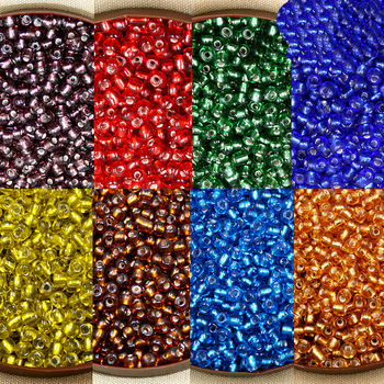 Wholesale 40g/lot 4mm Czech Glass Seed Beads Crystal Loose Spacer Beads with Silver Lining for Jewelry Making Supplies