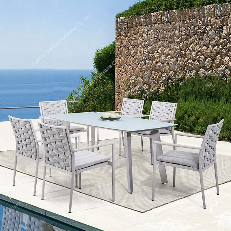 Modern European Design Rope Garden Furniture Rattan Wicker Outdoor Dining  Table Set Garden Sets - Buy Garden Sets,Outdoor Rope Furniture,Outdoor ...