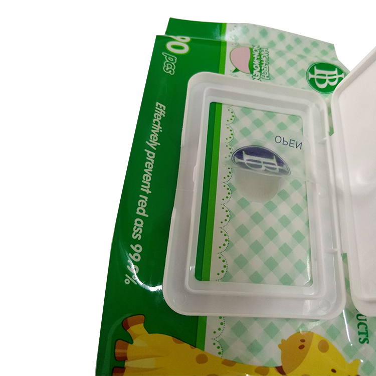 Back seal baby wet tissue wipes packing bag, wet wipes packaging pouch