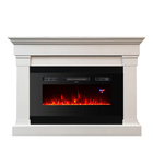 Indoor Fire Place Fireplace Heater White Fire Place Electric Fireplace Stand Mantle Decor Tv Heater with Led Flame