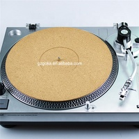 Custom design vinyl turntable record mat cork product reduce vibration slipmats for LP disc albums