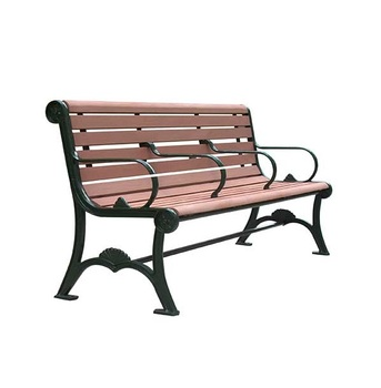 Outdoor street solid wood bench for patio and park