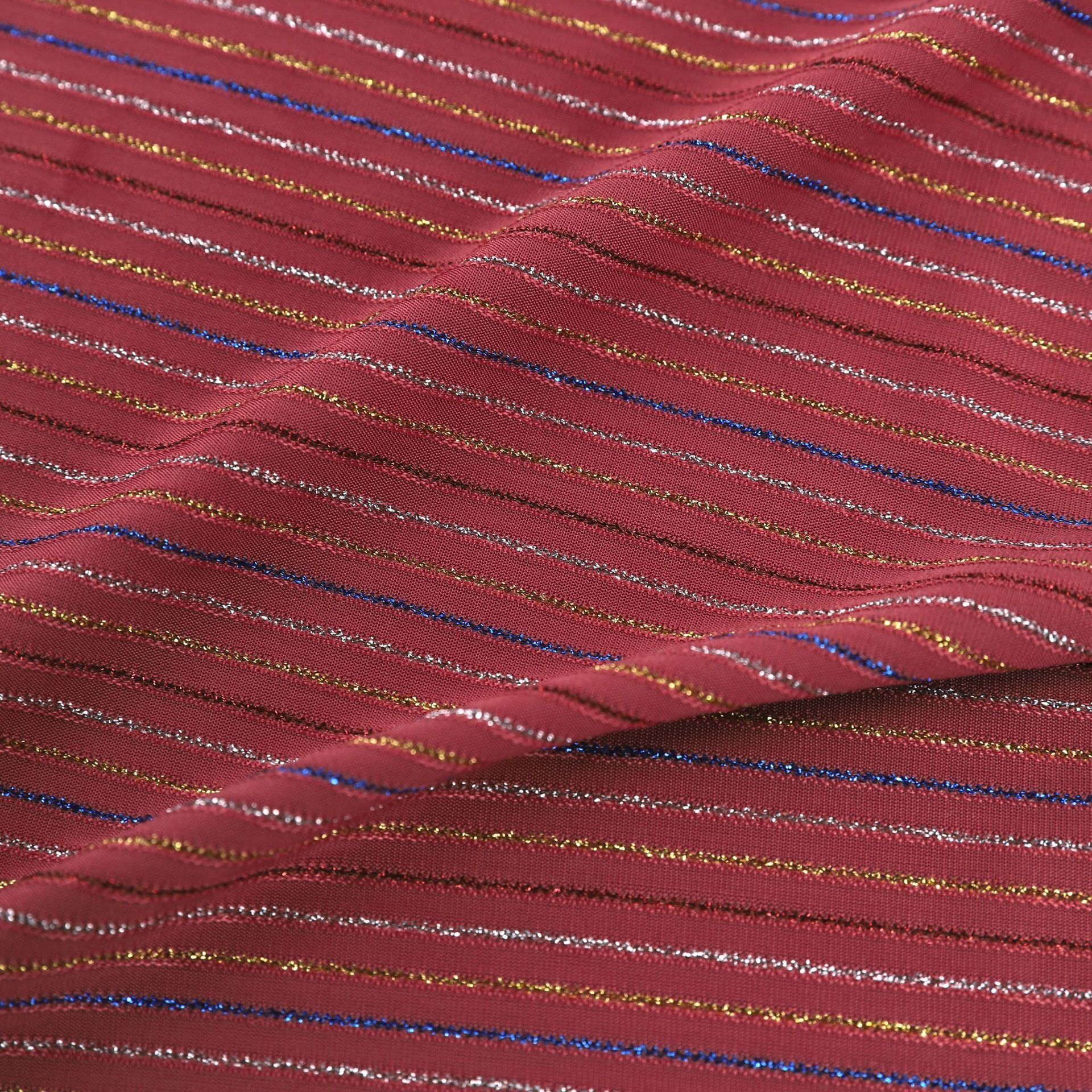 Customized Chiffon Fabric Metal Polyester Fabric Comfortable And Soft Dress Fabric