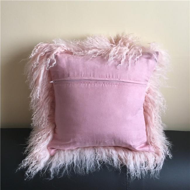 100% Real Factory wholesale mongolian fur pillow