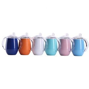 8oz /14oz Stainless Steel Sippy Cups Double Wall Vacuum Insulated Baby Tumbler Cup Travel Car Mugs Milk Bottle