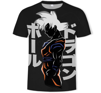 YWLL Men Short Sleeved One Piece Cartoon Goku Japanese Anime Custom Print 3D Anime T Shirt
