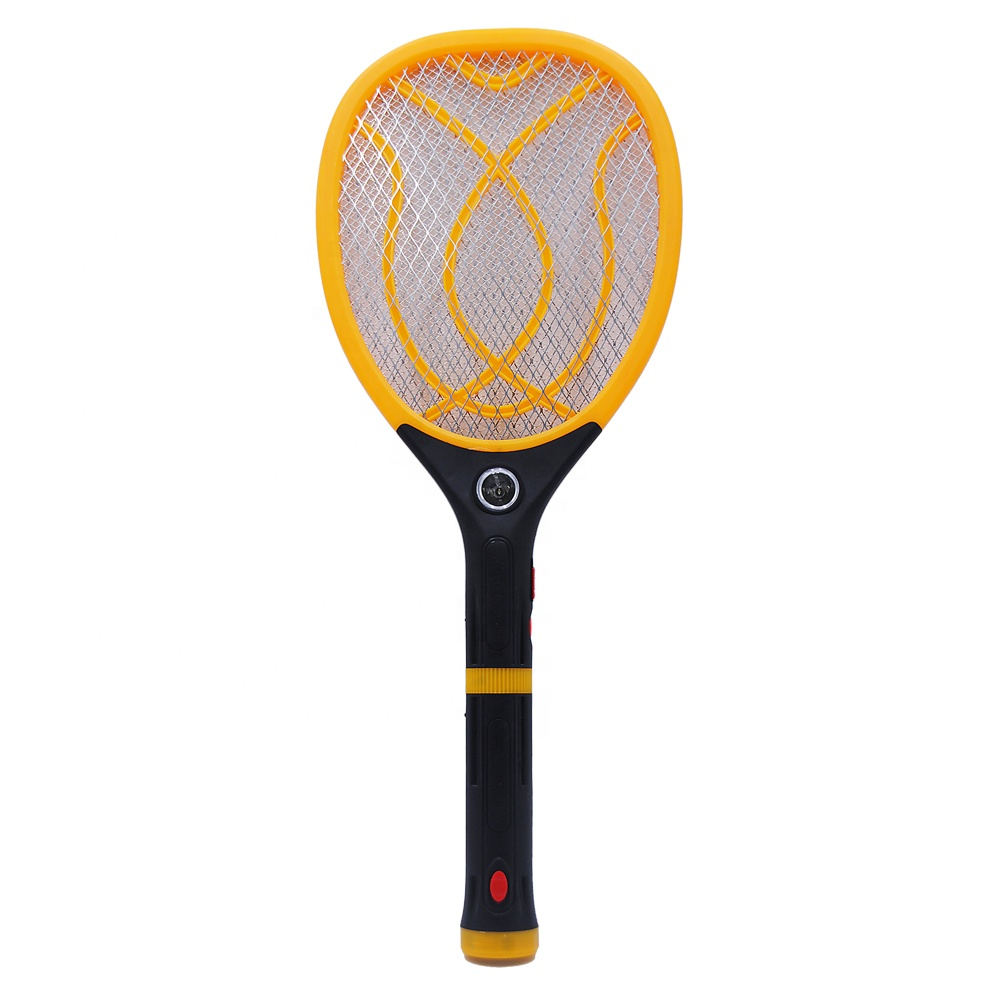 High quality led torch flashlight home parcel box akari mosquito racket Electric Hand Held Bug Zapper Insect Fly Swatter