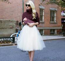 2020 Мода 7 слоев фатина кружевное фатиновое платье Короткое платье; Soild Высокая Талия, на свадьбу, на выпускной, Вечеринка сексуальное платье ...(Китай)