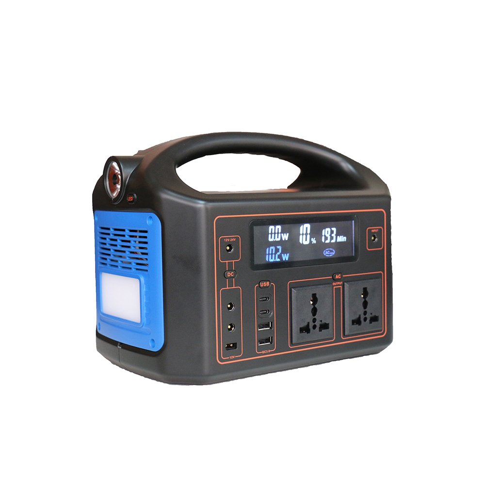 New 2019 portable solar power station 500wh lithium battery 18650 DC 12V 20v 24v <strong>AC</strong> 110V 220V power bank house