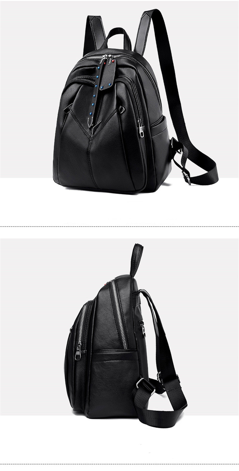product-GF bags-mochilas 2020 New Fashion Women Leather Backpack For Girls Sac a Dos Preppy School F-1