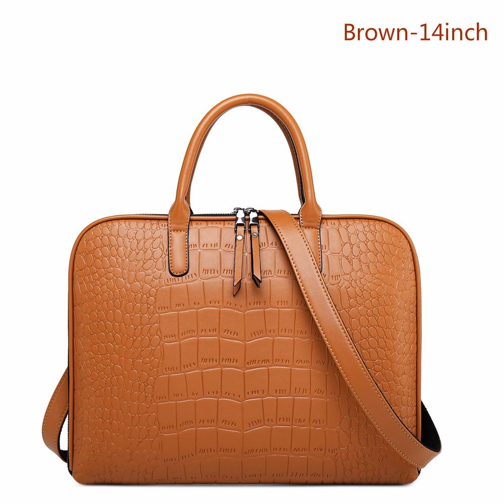 Деловой женский портфель, кожаная сумка, Женская Повседневная сумка, 14,1 15,6 дюйма, сумка для ноутбука, сумка на плечо, Офисные Сумки для дам, п...(Китай)
