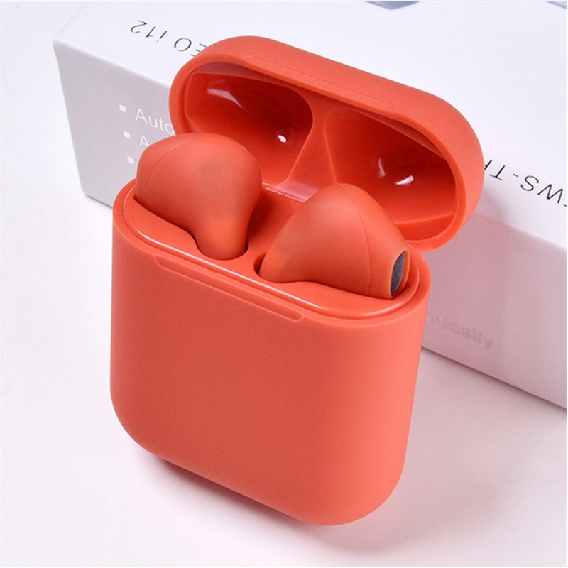i12 Earphone Bluetooth V5.0 Sports Headphone Stereo True TWS Wireless Earbuds for Mobile Phone