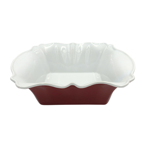 Wholesale red and white two-flowered small baking tray