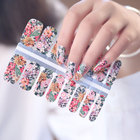 Packaging Customization Flower Design Nail Designs Wholesale Colorful Flower Design Nail Polish Stickers Nail Art Supplier Nail Wraps