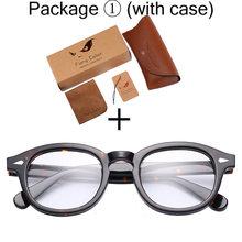 Круглые ацетатные оптические прозрачные очки, очки с прозрачными линзами, ретро очки для близорукости, оптические очки для мужчин и женщин ...(Китай)