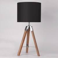 tripod wood fabric table lamp, 2019 Hot Sale Item, CE, ROHS, SAA