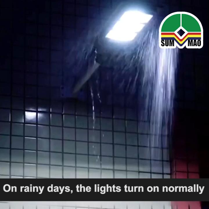 Envío rápido de DHL luces comerciales lámpara 20W 40W 60W Control remoto el atardecer al amanecer Sensor LED al aire libre luz de calle llevada Solar