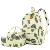 Wholesale top quality 3pcs set Printing travel rucksack laptop girls teenage school backpacks for college