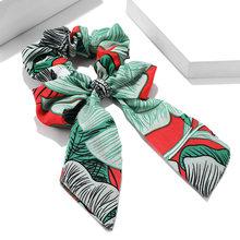 Кольцо для волос с большим бантом, аксессуары, Корейская американская веревка, эластичная винтажная Узорчатая лента, повязка для волос для ...(Китай)