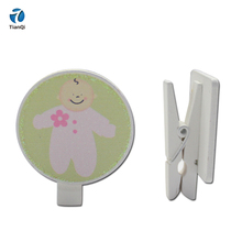 2018 China Fabriek Top Selling Kawaii 35mm Houten Photo Clips Voor Kinderkamer Decoratie