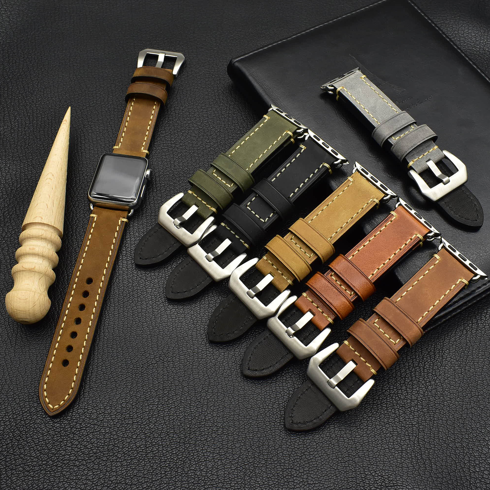 High quality leather watch strap 38mm/40mm 42mm/44mm for Apple watch series 6 5 4 for apple watch genuine leather band
