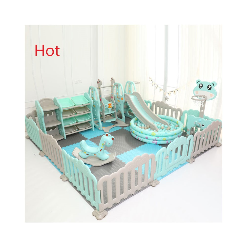 2021 Hot sell multifunctional new design safety Kids plastic indoor play yard fence baby playpen