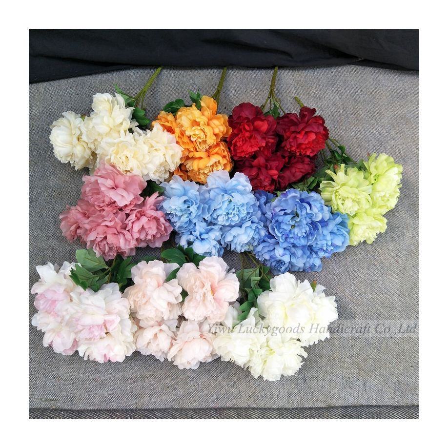 LF715 Luckygoods wedding party indoor decorative bush peony flower wholesale