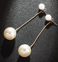 Роскошные большие круглые серьги с искусственным жемчугом, необычные свадебные аксессуары, подарочные украшения для ушей(Китай)