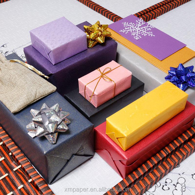 Custom Tessuto Carte Da Imballaggio per il Regalo di Imballaggio