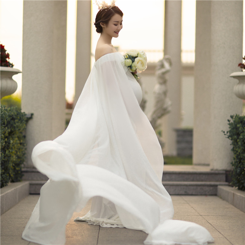 <strong>White</strong> Wedding <strong>Dress</strong> <strong>Maternity</strong> Lace <strong>Maternity</strong> Gown Pregnancy <strong>Maternity</strong> Wedding <strong>Dress</strong> for Photography Shoot Open Back